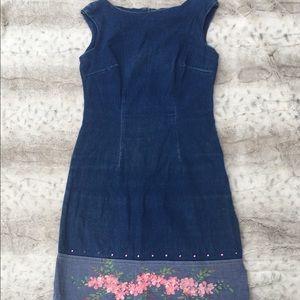 Denim midi dress made by CDC